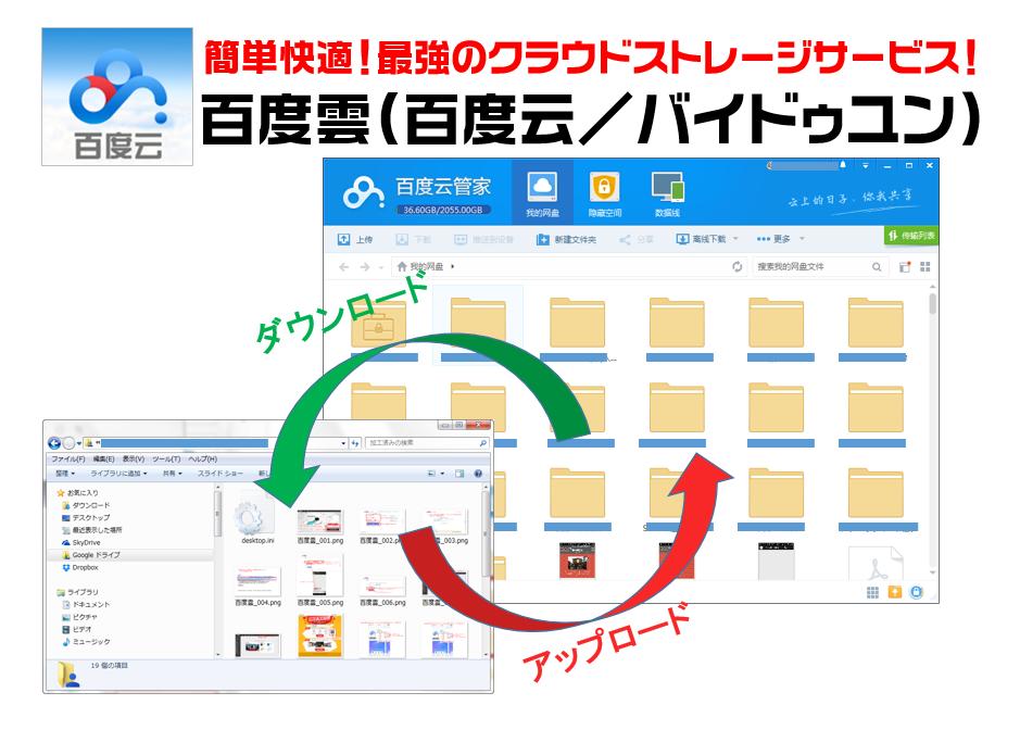 百度雲(百度云/バイドゥユン)の使い方 ~PCとスマホへのインストール・新規登録方法~